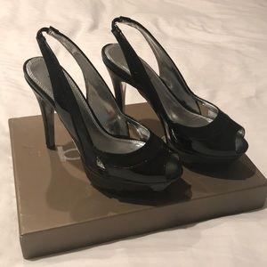 Bebe peep toe platform shoes, excellent condition